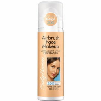 Sally Hansen Airbrush Face Makeup Foundation, 200 Natural Beige, 1 oz