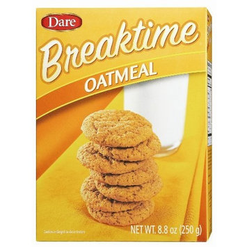 Dare Foods Breaktime Oatmeal Cookies, 8.8-ounce (Pack of 12 )