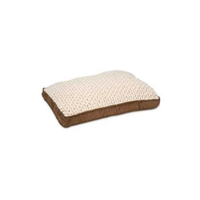Petmate Deluxe Pillow Bed with Gusset Suede / Swirl Plush 36