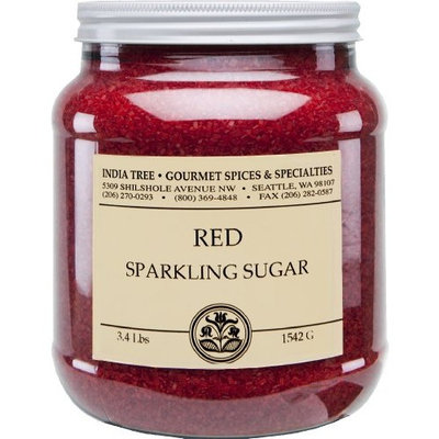 India Tree Holiday Red Sparkling Sugar, 3.4 lb (Pack of 2)