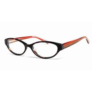 Seventeen 5391 Designer Reading Glasses in Tortoise-Tea ; DEMO LENS