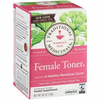 Traditional Medicinals Female Toner Herbal Supplement Tea, 16 count, .85 oz, (Pack of 3)