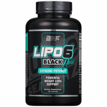 Nutrex Research LIPO6 Hers Black Extreme Potency Weight Loss Support Dietary Supplement, 120 count