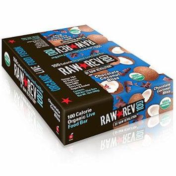 Raw Revolution, Raw Rev 100, Organic Live Food Bar, Chocolate Coconut Bliss, 20 Bars, 0.8 oz