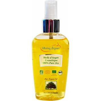 Organic Oil - 125ml Pure Certified Argan Oil. Hair Oil, Body Oil, Face Oil. Moisturising oil for hair, face & body. Premium Quality of Moroccan Oil to nourrish extreme dry skin and repare damaged hair. 100% Organic certified by ECOCERT.