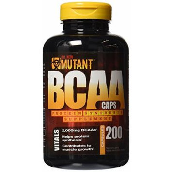 Mutant Extreme Potency BCAA Capsules, 200 Count