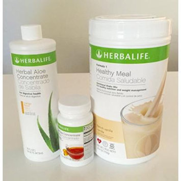 Herbalife Aloe Tea Shake Kit - Herbal Aloe Mango, Herbal Tea Concentrate, Formula 1 Vanilla shake