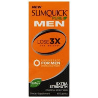 Slimquick Pure Men Extra Strength Weight Loss Supplement, 60 Count (Pack of 2)