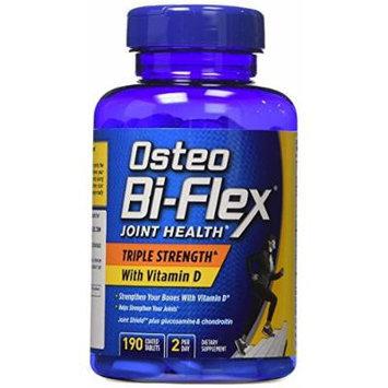 Osteo Bi-Flex Triple Strength Glucosamine Chondroitin MSM with Vitamin D - 190 Caplets