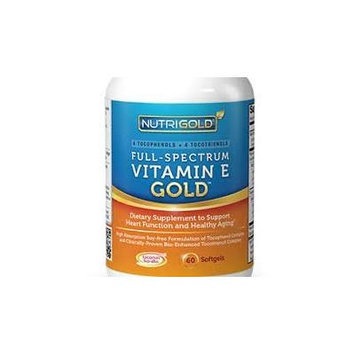 Vitamin E GOLD - Full Spectrum Vitamin E with Tocopherols and Tocotrienols (60 softgels) by NutriGold