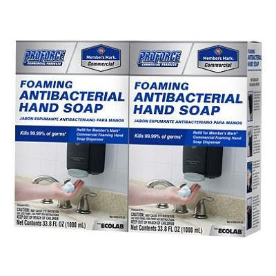 ProForce/Memmbers Mark Commercial Foaming Antibacterial Hand Soap (33.8 fl. oz., 2 ct.)