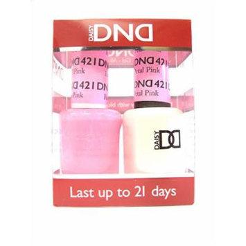 DND *Duo Gel* (Gel & Matching Polish) Spring Set 421 Rose Petal Pink