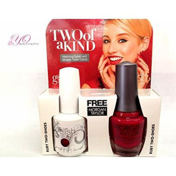 Gelish Two of a Kind Ruby Two- Shoes. Receive Free Harmony Nourish Cuticle Oil .5 Oz