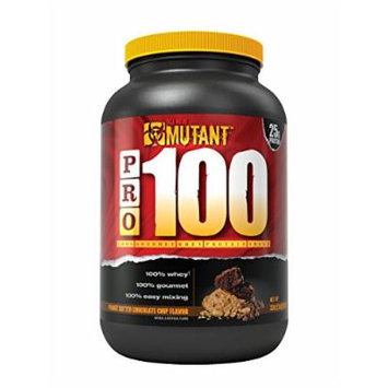 Mutant PRO 100 Whey, Delicious High Quality Gourmet Protein Powder, Peanut Butter Chocolate Chip, 2 Pound