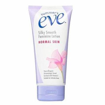 Summer's Eve Silky Smooth Feminine Lotion NORMAL SKIN Fragrance-Free (5 FL OZ 148ml)