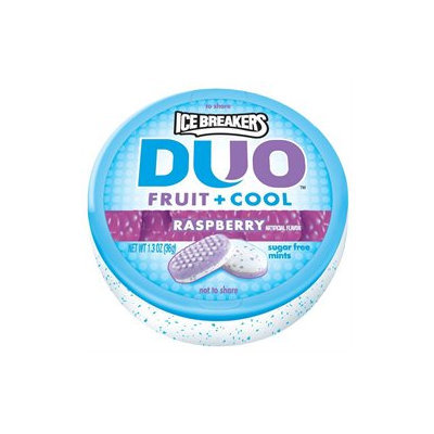 Ice Breakers DUO Fruit & Cool Sugar Free Mints, Raspberry, 8 ea
