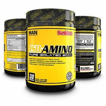 MAN Sports ISO-AMINO BCAA Amino Acid Powder, Sunblaze, 30 Servings, 7.41 Ounce