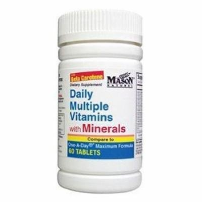 Mason Natural Daily Multiple Vitamins with Minerals Compare to One a Day Maximum Formula - 60 Tablets