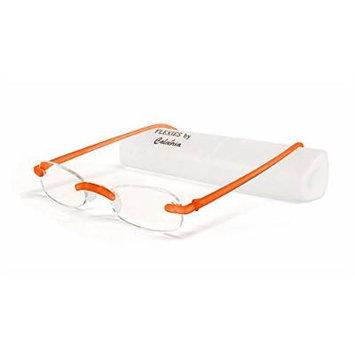 Calabria Reading Glasses - 715 Flexie in Tangerine +0.75