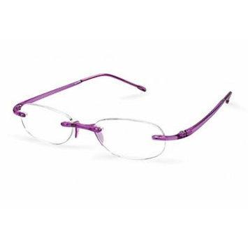Scojo New York Gels Lightweight Reading Glasses w/ Case (Amethyst , + 1.50)
