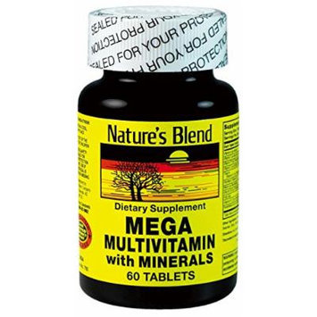 Nature's Blend Mega Multivitamin with Minerals 60 Count Pack of 3