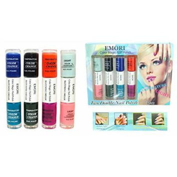 Color Changing Nail Polish - 8 Colors in 4 Dual Nail Polish Combo Kit (Temperature & Light Change)