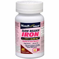 Mason Naturals Iron 50 mg Slow Release-60 Tablets Pack of 6