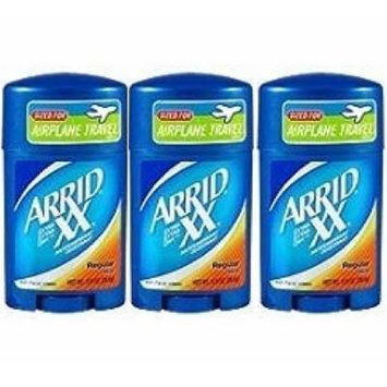 Arrid XX Regular Solid Extra Extra Dry Antipersirant Deodorant 1 oz Travel Size (Pack Of 3)