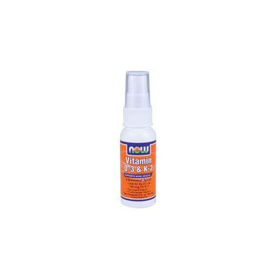 Now Foods Vitamin D-3 & K-2 Liposomal Spray, 2 oz 1000 IU/100 mcg (Pack of 2)