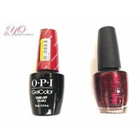 OPI Nail Lacquer and Gelcolor Love Is in My Cards G32. Each Bottle Contains .5 Oz. Free Tend Skin Sample