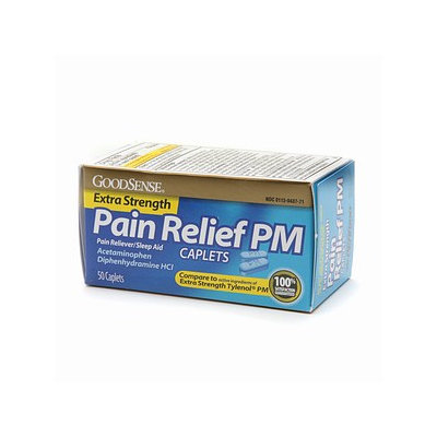 Good Sense Extra Strength Acetaminophen PM Caplets 500mg