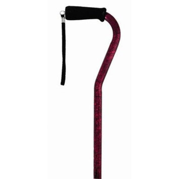 Medbasix Offset Single Point Cane Color: Red
