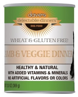 Dave's Pet Food Dave's Delectable Dinners Lamb and Veggie Dinner Canned Dog Food