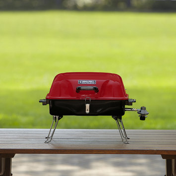 Bbq Pro BBQ Pro 18 In. Red Square Tabletop Gas Grill - TAIWAN NAN SHAN BAMBOO WARE CO