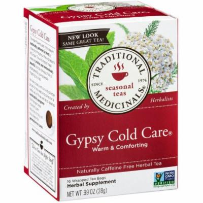Traditional Medicinals Gypsy Cold Care Herbal Supplement Tea, 16 count, .99 oz, (Pack of 3)
