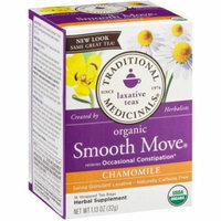 Traditional Medicinals Organic Smooth Move Chamomile Herbal Supplement Tea, 16 count, 1.13 oz, (Pack of 3)