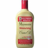 Hollywood Beauty Mayonnaise Moisturizing Cream Oil with Egg Protein, 12 oz