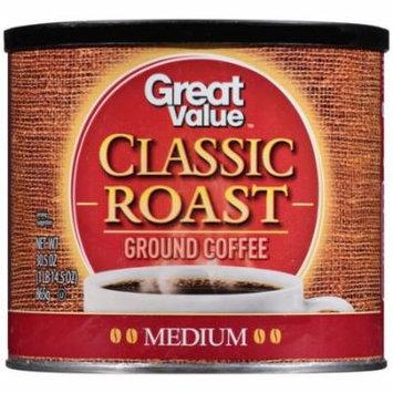 Great Value Classic Roast Medium Ground Coffee, 30.5 oz