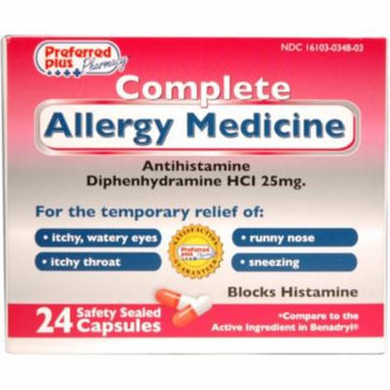 COMPLETE Allergy Medicine (Diphenhydramine HCl 25mg) 24 ea