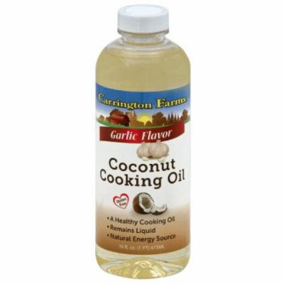 Carrington Farms Garlic Flavor Coconut Cooking Oil, 16 fl oz, (Pack of 6)