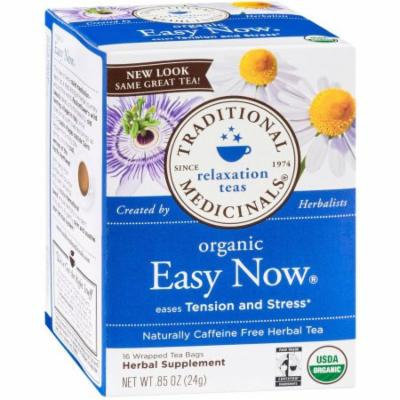 Traditional Medicinals Organic Easy Now Herbal Supplement Tea, 16 count, .85 oz, (Pack of 3)