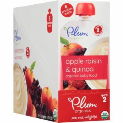 Plum Organics Stage 2 Apple, Raisin & Quinoa Organic Baby Food, 3.5 oz, 6 count