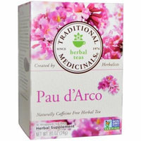 Traditional Medicinals Pau de Arco Herbal Supplement Tea, 16 count, .85 oz, (Pack of 3)