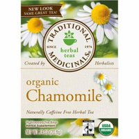 Traditional Medicinals Organic Chamomile Herbal Supplement Tea, 16 count, .74 oz, (Pack of 3)
