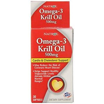 Natrol Omega-3 Krill Oil, 500 mg, 30 Softgels Per Bottle(4 Bottles)