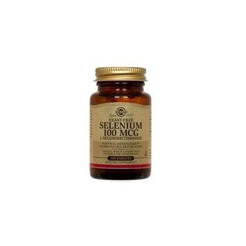 Solgar Yeast-Free Selenium, 100 Tabs 100 mcg (Pack of 2)