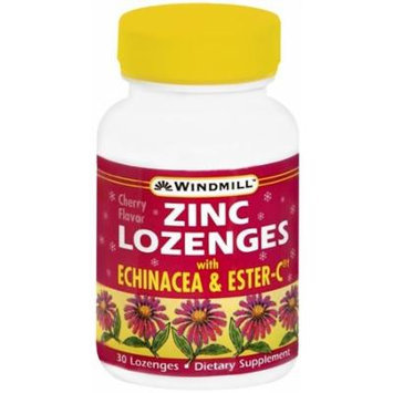 Windmill Zinc Lozenges with Echinacea and Ester-C, Cherry Flavor - 30 ea Pack of 3