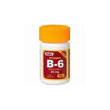 Rugby Vitamin B-6 25 mg 100 Count Pack of 3
