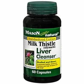 Mason Vitamins Natural Milk Thistle Capsules - 60ct Pack of 4