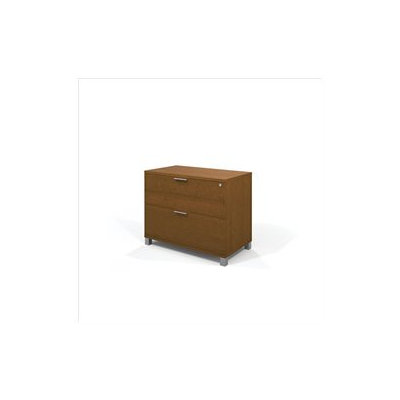 Bestar Pro-Linea Assembled Lateral File Cognac Cherry